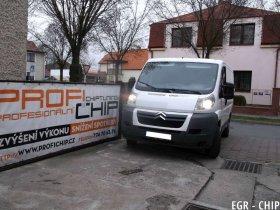 Chiptuning a deaktivace EGR ventilu Citroën Jumper 2.2 HDI