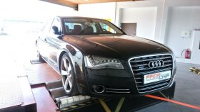 Chiptuning a měření na válcové zkušebně vozu Audi A8 4.2 TDI
