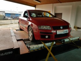 Chiptuning a měření na válcové zkušebně vozu Fiat Stilo 1.9 JTD