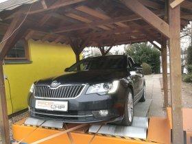 Chiptuning a měření na válcové zkušebně vozu Škoda Superb 2.0TDI