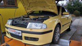 Chiptuning a měření na válcové zkušebně vozu Škoda Octavia RS 1.8 Turbo
