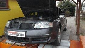 Chiptuning a měření na válcové zkušebně vozu Škoda Superb 2.5 TDI
