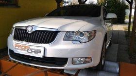 Chiptuning a měření na válcové zkušebně vozu Škoda Superb II 2.0TDI