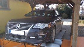 Chiptuning a měření na válcové zkušebně vozu VW Passat B7 1.6 TDI
