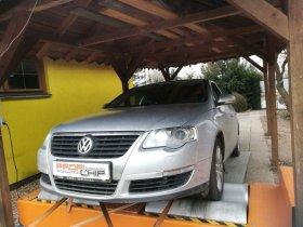 Chiptuning a měření na válcové zkušebně vozu VW Passat 2.0 TDI