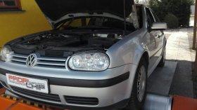 Chiptuning a měření na válcové zkušebně vozu VW Golf IV 1.9TDI