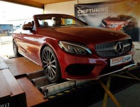 Chiptuning a měření na válcové zkušebně vozu Mercedes-Benz C 220d