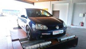 Chiptuning a měření na válcové zkušebně vozu Volkswagen Golf V 1.9 TDI