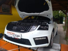 Chiptuning a měření výkonu motoru vozu Škoda Octavia III - 2.0 TDI RS