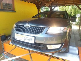 Chiptuning a měření výkonu motoru vozu Škoda Octavia III - 1.6 TDI CR, 66 kW