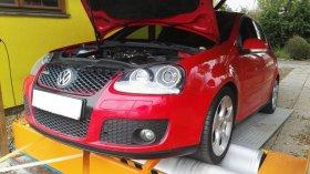 Maximální chiptuning a měření výkonu na válcové zkušebně vozu Volkswagen Golf 5 2.0 TFSI GTI