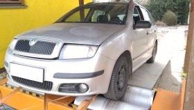 Chiptuning a měření výkonu na válcové zkušebně vozu Škoda Fabia 1.2 HTP