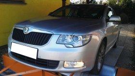 Chiptuning a měření výkonu na válcové zkušebně vozu Škoda Superb II 2.0 TDI-CR