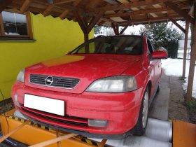 Chiptuning a měření výkonu na válcové zkušebně vozu Opel Astra Caravan 1.7 DTI