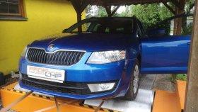 Chiptuning a měření výkonu na válcové zkušebně vozu Škoda Octavia III 1.6 TDI CR