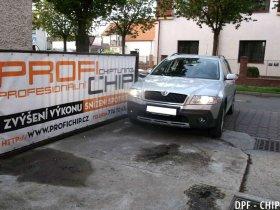 Chiptuning a odstranění DPF Škoda Octavia Scout 2.0 TDI-CR