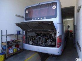 Chiptuning autobusu Setra