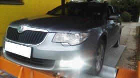 Chiptuning, měření výkonu na válcové zkušebně a měření emisí po chiptunigu vozu Škoda Superb II 2.0 TDI-CR