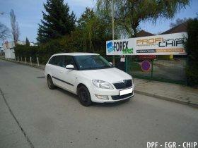 Chiptuning, odstranění DPF a deaktivace EGR Škoda Fabia II 1.6 TDI-CR