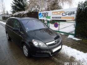 Chiptuning, odstranění DPF a deaktivace EGR ventilu Opel Zafira 1.9 CDTi 16V