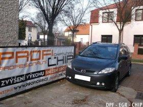 Chiptuning, odstranění DPF a deaktivace EGR ventilu Mazda 5 2.0 MZR-CD