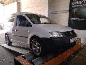 Chiptuning s měřením výkonu Volkswagen Caddy 1.9 - TDI, 55 kW