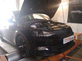 Chiptuning s měřením výkonu vozu Škoda Fabia III 1.2 TSI, 81 kW