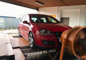 Chiptuning s měřením výkonu vozu Volkswagen Golf 5 - 2.0 TFSI GTI, 147 kW