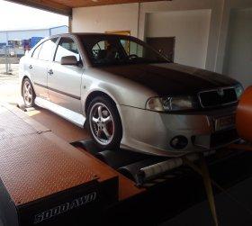 Chiptuning včetně měření na válcové zkušebně vozu Škoda Octavia 1.8 T