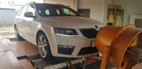 Chiptuning včetně měření na válcové zkušebně vozu Škoda Octavia III RS 2.0 TDI