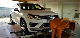 Chiptuning včetně měření na válcové zkušebně vozu VW TOUAREG 3.0 TDI 193 KW
