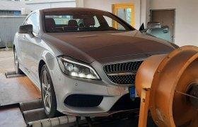 Chiptuning včetně měření na válcové zkušebně vozu Mercedes- Benz CLS 350 CDI - 190kW