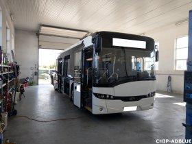 Mobilní chiptuning a deaktivace systému AdBlue autobusu Solaris Urbino
