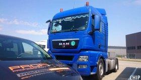 Mobilní chiptuning nákladního vozu Man TGX 18.440