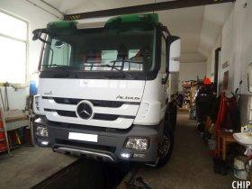 Mobilní chiptuning nákladního vozu Mercedes-Benz Actros 2641