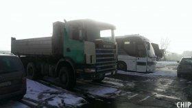 Mobilní chiptuning nákladního vozu Scania R124
