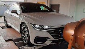 Úprava výkonu včetně měření na válcové zkušebně vozu VW Arteon 2.0 TSI - 140 kW