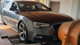 Úprava výkonu včetně měření na válcové zkušebně vozu Audi A7 3.0 Bi-TDI 230 kW